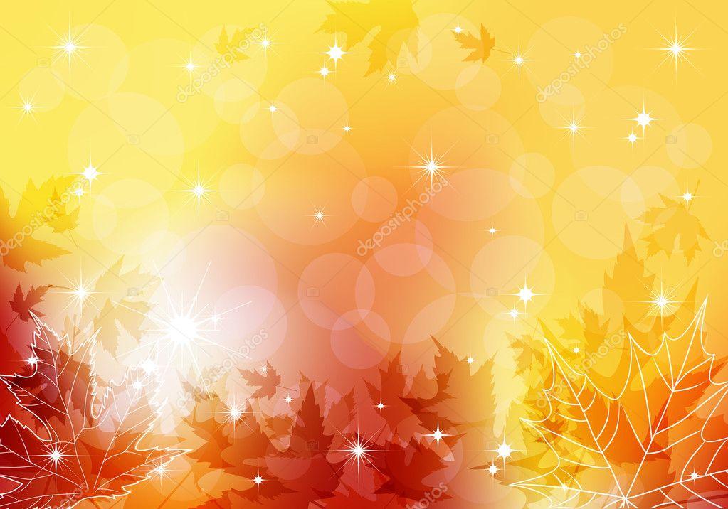 Autumn transparent background.