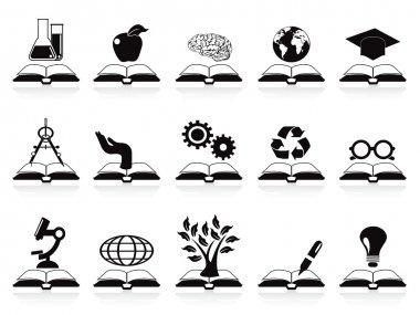 Books concept icons set