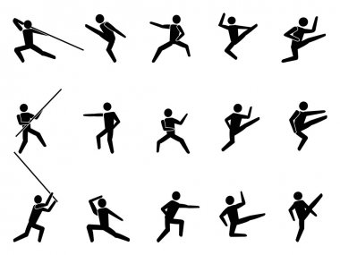 Martial arts symbol icons