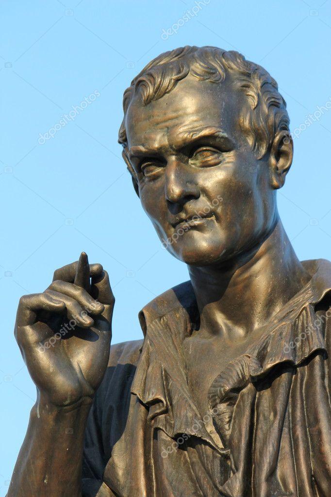 Statue Of Jean Jacques Rousseau Geneva Switzerland Stock