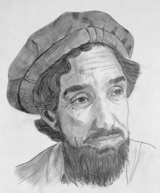 Ahmed Shah Massoud commandant portrait