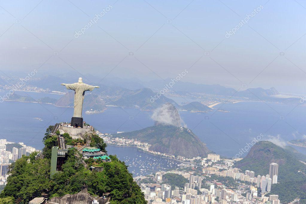 Christ Redeemer Statue And Sugarloaf Mountain In Rio De