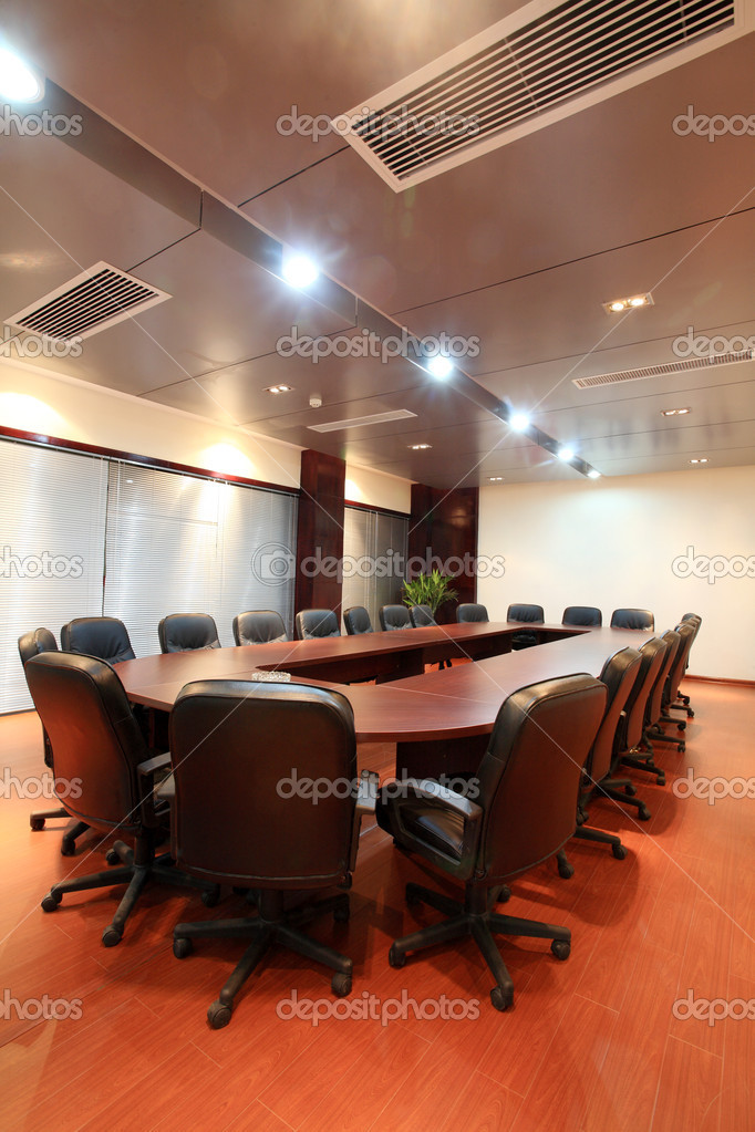 Modern city meeting room