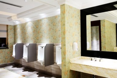 White toilets in the hotel