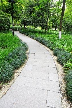A stone walkway