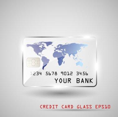 Credit card glass, vector illustration, EPS10 clip art vector