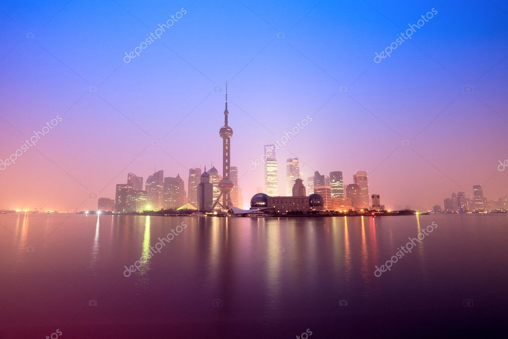 Shanghai in daybreak