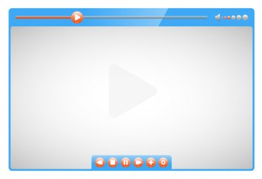 Video player quality illustration stock vector