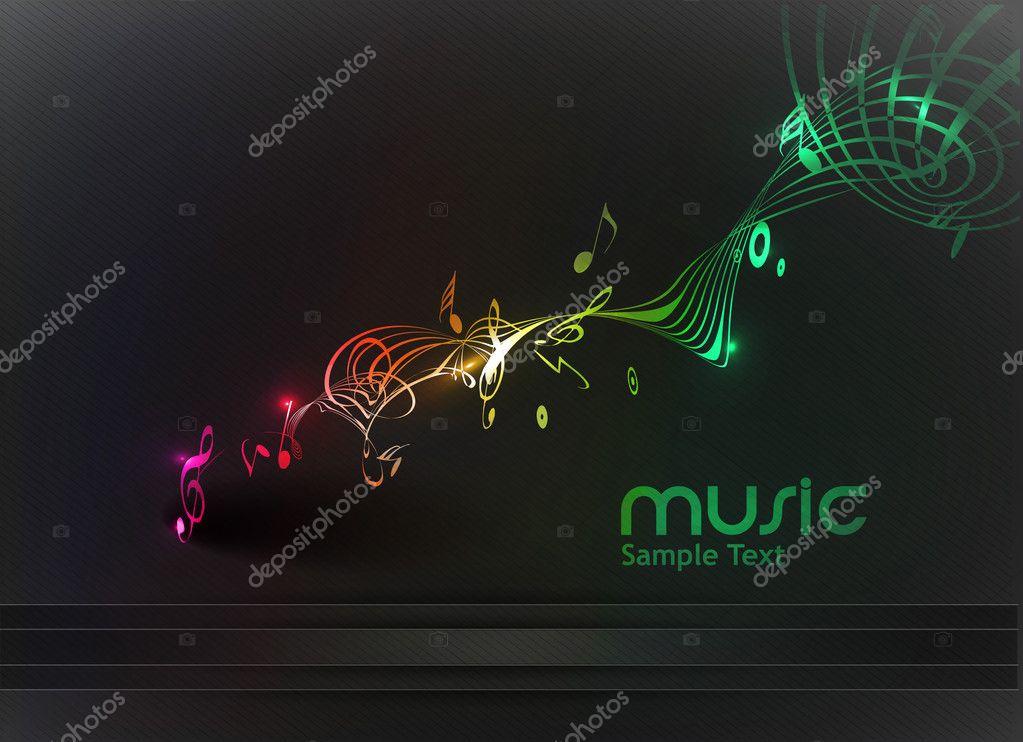 Soyut Müzik Arka Plan Stok Vektör Redshinestudio 11813423