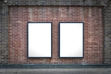 Two blank boards