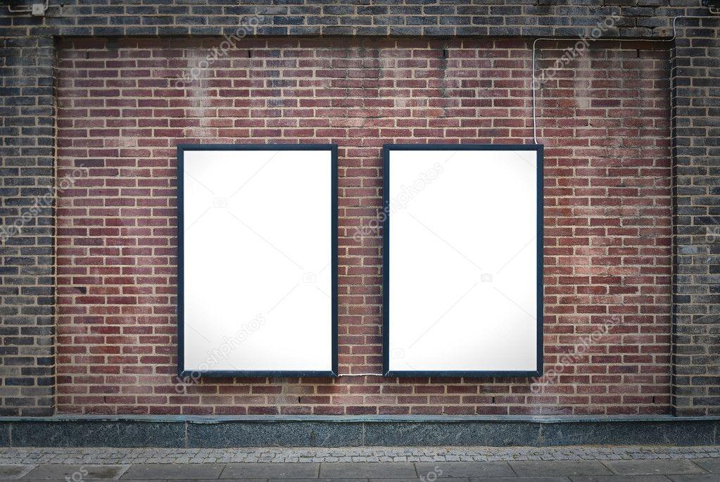 Two blank boards