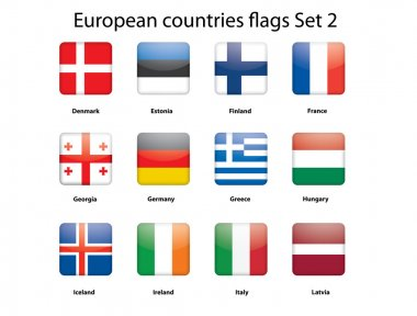 European countries flags set 2