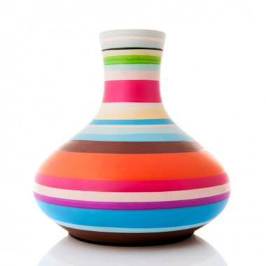 Modern colorful vase