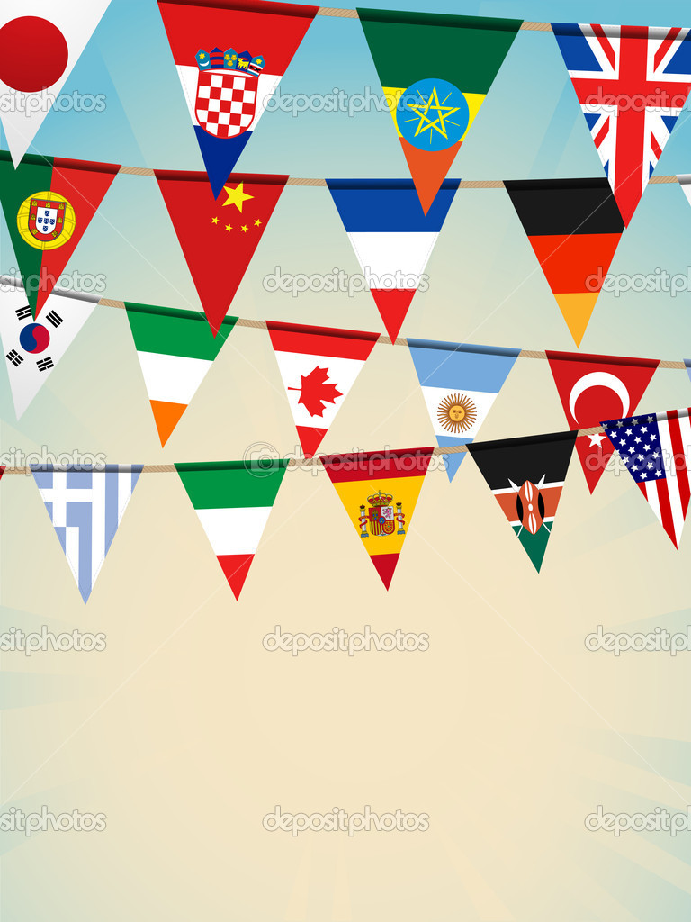 World bunting flags2