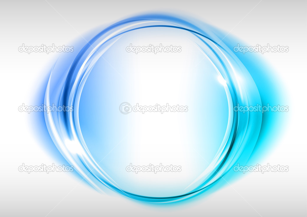 Blue circle on the light background stock vector