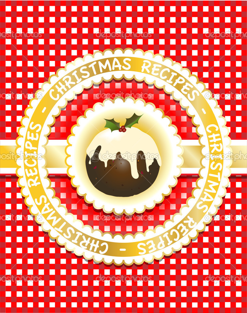 christmas recipe book stock vector rixipix 11309663