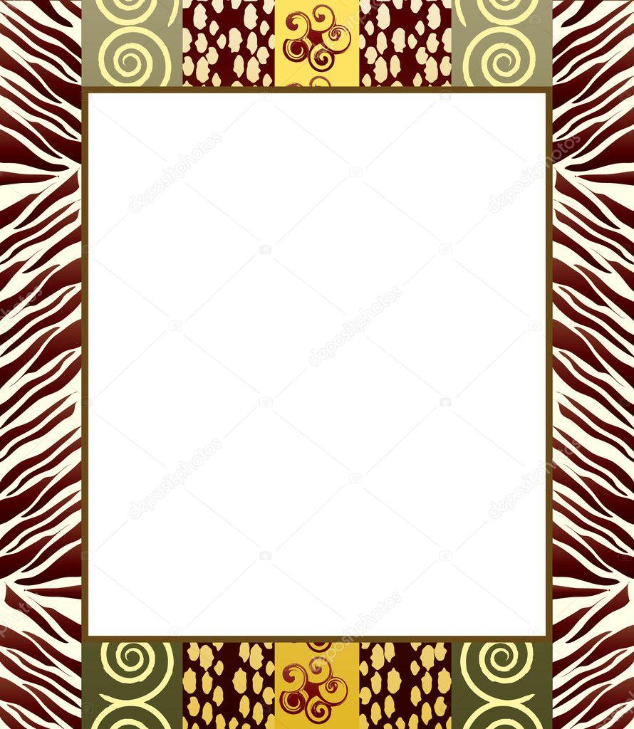 afrikanischen Stil Frame 2 — Stockvektor © rixipix #11330926