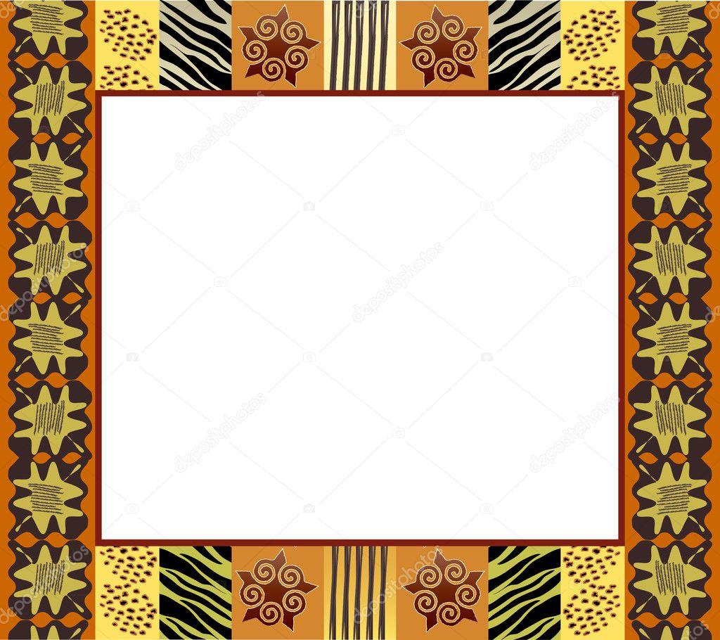 afrikanischen Stil Frame 1 — Stockvektor © rixipix #11330934