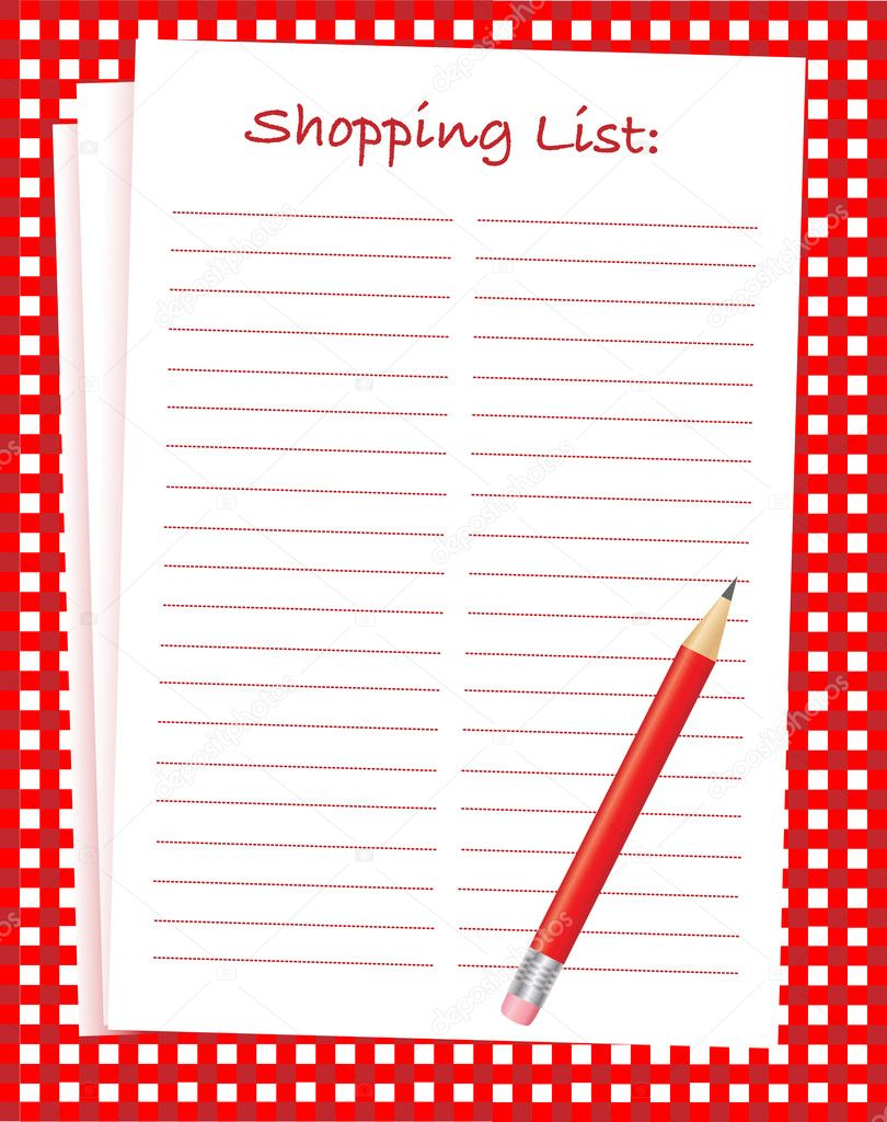 Einkaufsliste — Stockvektor © rixipix #11894998