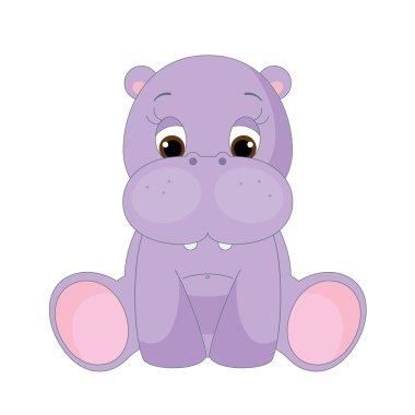 Cute baby hippopotamus