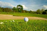golfový míček na krásné golfové hřiště