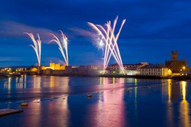 Fireworks over King John Castle in Limerick