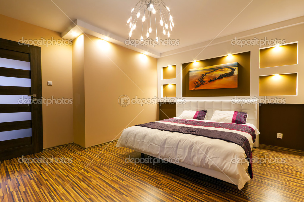 Modern master bedroom interior