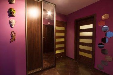 Purple hall interior