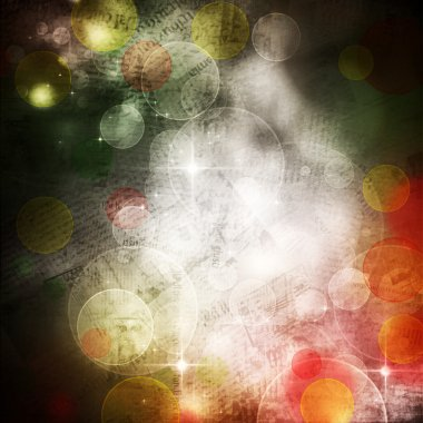 Beautiful abstract background of holiday lights and posters