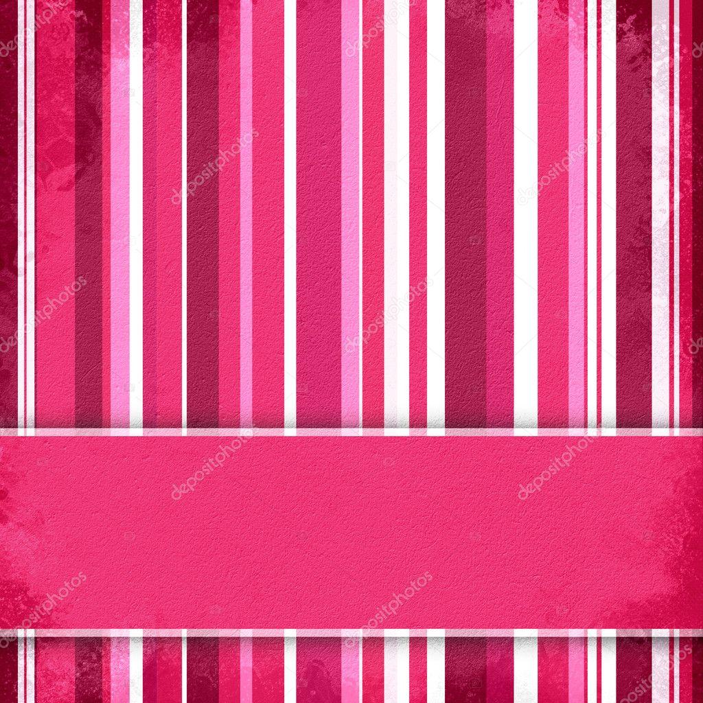 Sfondo A Righe Viola Rosa E Bianco Con Banner Foto Stock