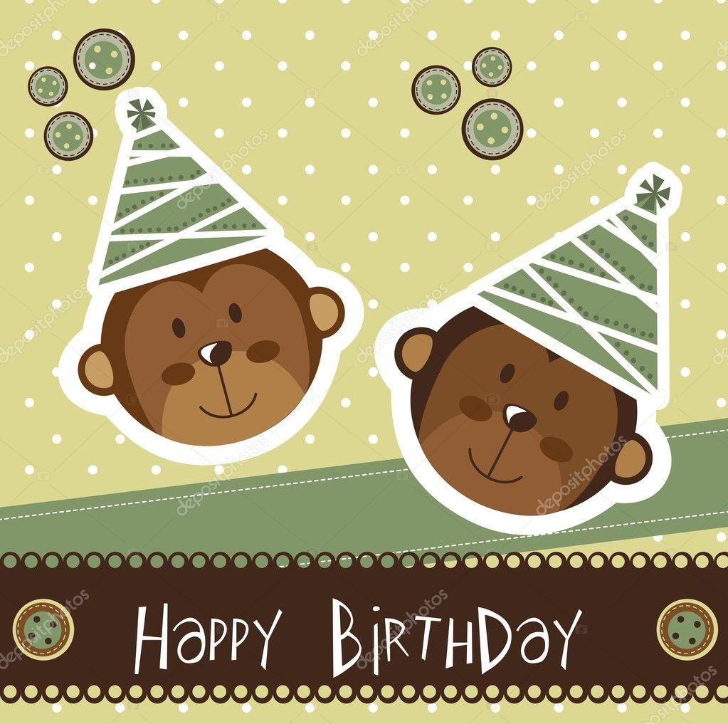 Очень, открытка на день рождения от обезьяны