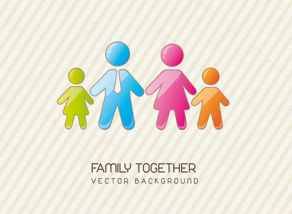 Simbolo De La Familia Unida Familia Unida Vector De Stock