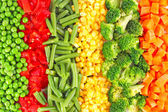 Mixed vegetables background