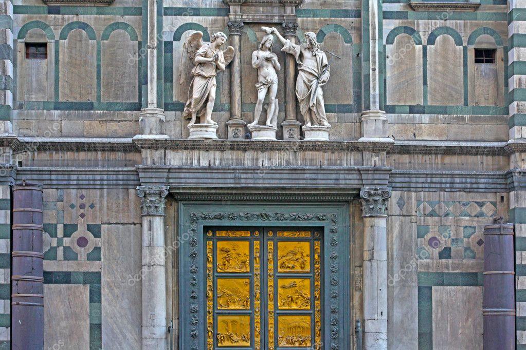 Catedral Del Duomo De Puerta De Bronce De Ghiberti Paraiso