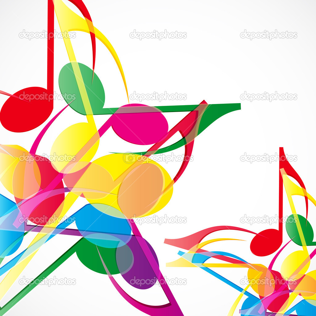 music stars background colorfull music notes stock vector rh depositphotos com Music Notes Background Music Note Graphics Free