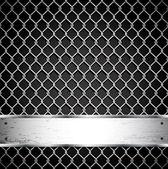 Fényképek fém kerítés egy sötét háttér