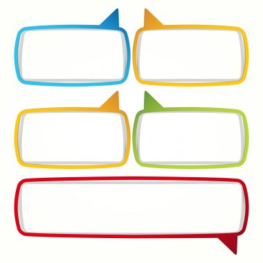 Colorful speech bubble frames.