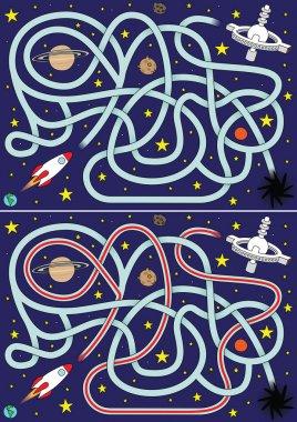 Space rocket maze