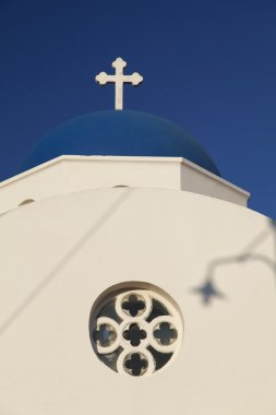 Closeup of Santorini church