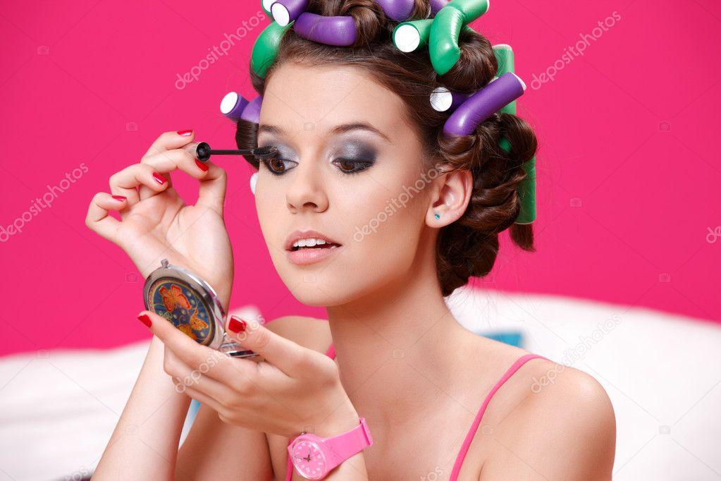 Close up van portret van een tiener meisje schilderij van haar ogen stockfoto kostudio 11089887 - Schilderij slaapkamer tiener meisje ...
