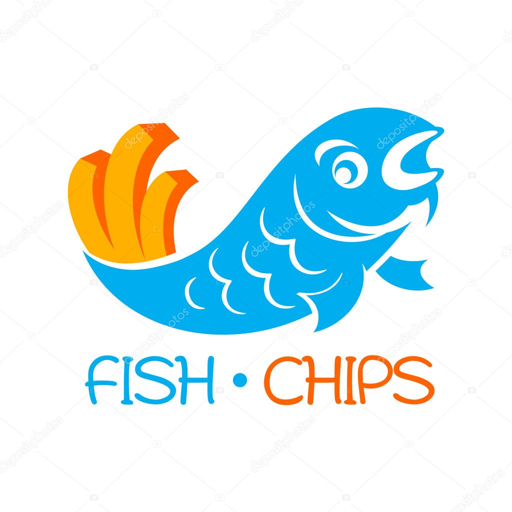 Fish and chips — Stock Vector © sahuad #11824433
