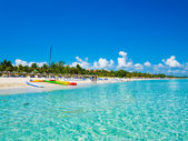 Fotografie Varadero beach in Cuba photographed from the sea