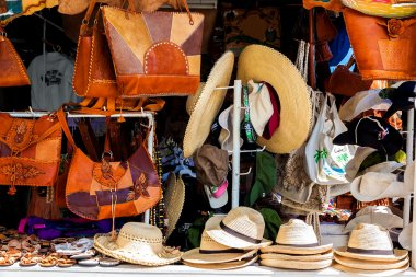Touristic street market selling souvenirs in Cuba