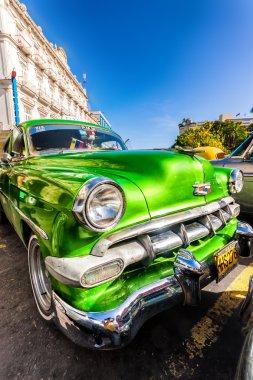 Vintage Chevrolet parked in Old Havana