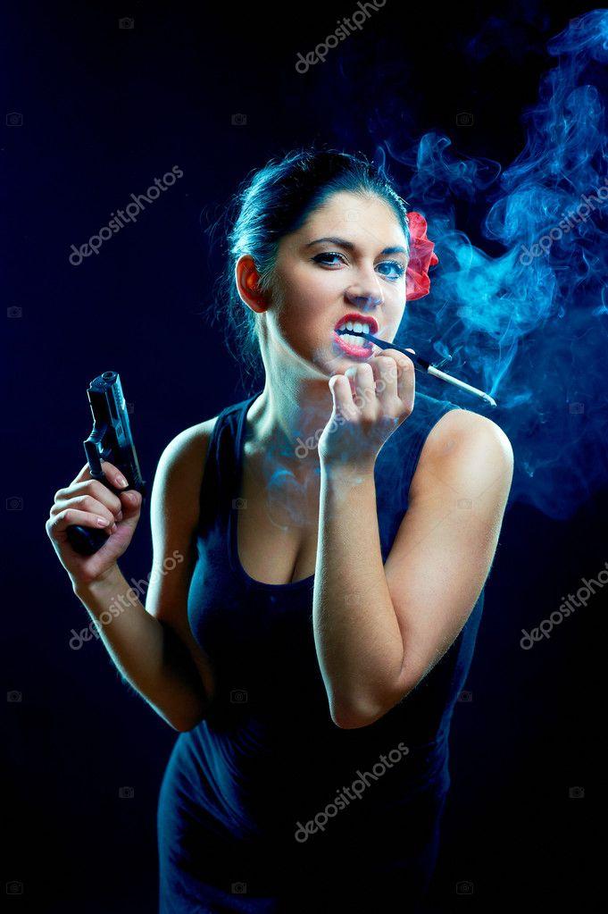 Španělská dívka kouření
