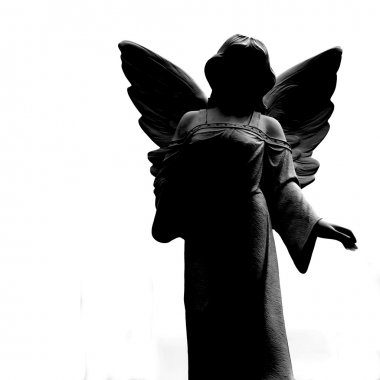 Silhouette of Angel Statue