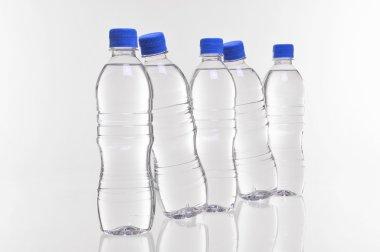 Water bottles angled