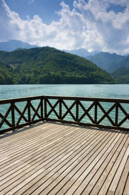 Terrace on Barcis lake