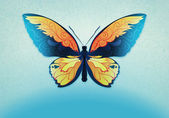 Photo Decorative background with butterfly
