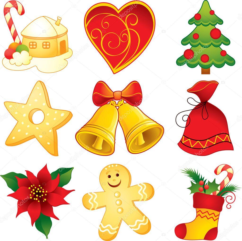Symbols Of Christmas.Set Of Christmas Symbols Stock Vector C Artanika 12148899